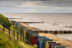 Beach Huts at Mundesley Beach
