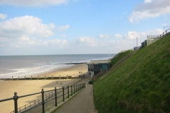 Mundesley Beach, looking on to Beach Cafe