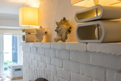 Mantelpiece in Dining Room at Beach Cottage