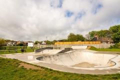 Skate park in Mundesley, Norfolk
