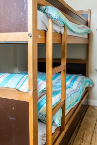 Bunk bed room at Beach Cottage